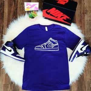 "Nike Air Jordan 1 ""Court Purple"" Custom AJ1"